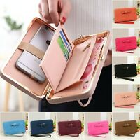 Clutch Bag Women Purse Leather Wallet Ladies Handbag Card Phone Holder Case Coin