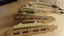 "pack of 25/9 Pin Cable USB 2.0 4-Port Internal 4.5"" Bay Hub Bracket Computer PC"