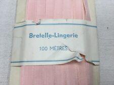 Vintage French Lingerie Pink Satin Ribbon.sold/meter.ruban de lingerie Ancien.