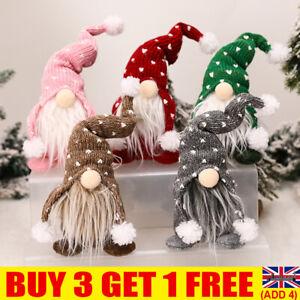 Christmas Gnome Plush Santa Doll Xmas Gonk Dwarf Elf Decoration Ornaments Gifts