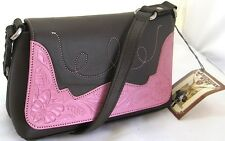 NEW with Tags~American West~Two Tone Tote Purse Shoulder Bag Handbag (Pink/Brown