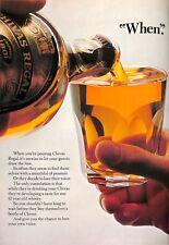 Original Vintage 'Chivas Regal Whisky Advertisement' - The Field Magazine Oct 75