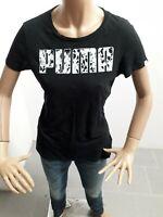 Maglia PUMA Donna T-Shirt Woman Polo Femme Taglia Size 42 Nera Manica Corta 8355