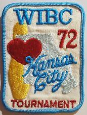 1972 WIBC Kansas City Tournament Bowling Patch Vintage