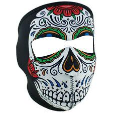 NEW Zan Headwear Muerte Sugar Skull Neoprene Full Face Biker Motorcycle Mask