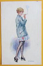 Cartolina d'epoca  - Donna - postcard - cpa - Postkarte - Tarjeta postal Fabiano