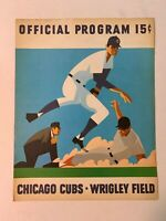 1970 Chicago Cubs vs Philadelphia Phillies Opening Day Program w/Ticket Stub VG