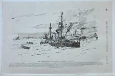 1898 Stampa il Annientamento di Admiral Cerveras Squadrone