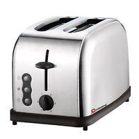 900w 2 Slice Toaster Stainless Steel Legacy Slide In Wide Slots Defrost Reheat