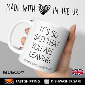 Leaving MugCunt Rude Adult Funny office work workplace gift coffee cup Him Her