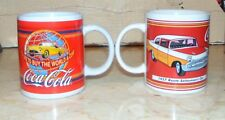 """2 Coca Cola mugs """"1957 Route Salesman's Car"""" & """"I would like to buy the world a"""