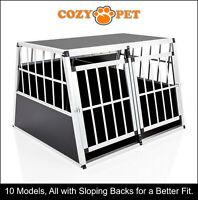 Aluminium Car Dog Cage Cozy Pet Travel Puppy Crate Pet Carrier Transport ACDC06