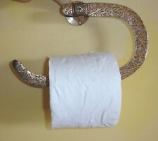 Moroccan COPPER colour ENGRAVED hook toilet roll/small towel holder