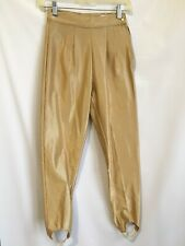 "Vintage Gold Metallic Stirrup Pants Womens ""The Icing�80s Stretch Leggi"