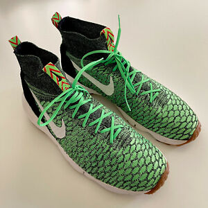 Nike Air Men's Sz 11.5 Footscape Magista Flyknit Poison Green Shoes 816560-300
