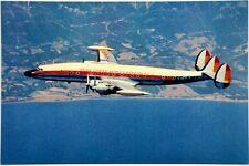 Cartolina Aviazione - Aereo In Volo Super G. Constellation Della Linea Iberia No