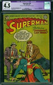 SUPERMAN  # 92   Awesome GOLDEN AGE! NICE!   CGC