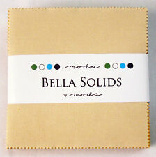 """Moda FABRIC Charm Pack ~ BELLA SOLIDS ~ WARM ~ (9900PP 24)  42 - 5""""squares"""