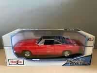 1:18 maisto 1969 Dodge Charger R/T American Muscle Sports Super Car 🇺🇸 1/18