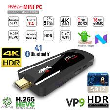 H96 Pro 2GB 16GB 4K TV Dongle Android 7.1 Amlogic S912 WIFI BT4.1 HEVC VP9 Stick