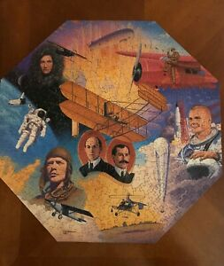 1996 National Geographic High Flying Heroes 500 Cork Piece Puzzle COMPLETE