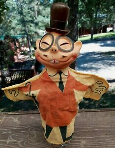 1960s Ideal Toy DICK TRACY JOE JITZU HAND PUPPET Chicago Tribune  Chester Gould