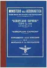 CAPRONI Ca100 Acrobazia 1931 AERONAUTICA AIRCRAFT Manual Supplemento - DVD