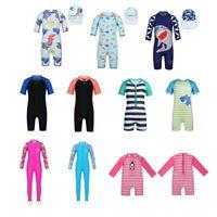 Baby Kid Girl Boy Sun Protective Swimwear Rash Guard Costume Bathing Suit Set