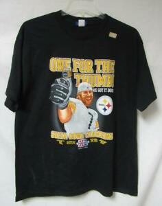 Pittsburgh Steelers Mens Size Large 5 Time Super Bowl Champions T-Shirt A1 2127
