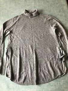 H&M Mama grey  roll neck jumper with tie sides size S 10