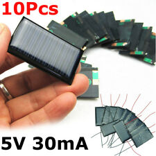 10Pcs/Lot 5V 30mA Micro Mini Small Power Solar Cells Panel 53X30mm For DIY Toy