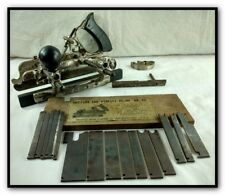 ANTIQUE STANLEY # 45 COMBINATION PLOW PLANE W CUTTERS WOODWORKING CARPENTER TOOL