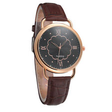 Noblag Mademoiselle Luxury Women's Watches Brown Strap Black Dial 40mm