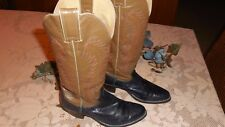 Justin boots,  size 5 1/2 B  two toned, blue and taupe style, J6489