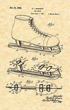 Patent Print -Vintage Ice Hockey Skates 1939 Art Print. Ready To Be Framed!