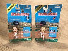 1998 Headliners MLB Randy Johnson Orel Hershiser Baseball Figures by Corinthian