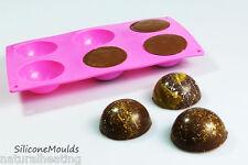 6 *BLACK* Semi Sphere Hemisphere Silicone Bakeware Mould Dome Chocolate Teacake