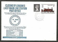 1976 TOPICAL RAILROAD COVER GREAT BRITAIN CLOSING OF LONDON'S LAST MAIN LINE PO
