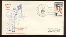 USS Claude V. Ricketts (DDG-5) Guided Missile Destroyer 1964 Naval Cover N790
