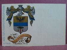 Old Postcard: Italy Italian Family Crest Coat of Arms Rognoni Modene