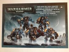 Warhammer 40K Space Wolves Wolf Guard Terminators Space Marines Box New Sealed