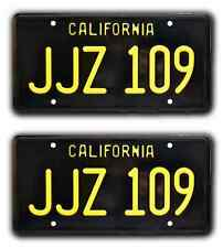 Bullitt / Steve McQueen's Mustang / JJZ 109 *STAMPED* Prop License Plate Combo