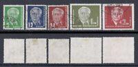 DDR Mi. Nr. 322 - 326 Wilhelm Pieck II = gestempelt aus Jahrgang 1952