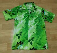 Pomare Tahiti Mens Size Small Hawaiian Aloha Camp Shirt Floral Rose VTG 60s 1960