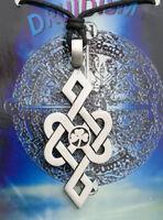 Colgante + Cordón Tribal Étnico Celta Druidismo de Estaño Protección B6 7977