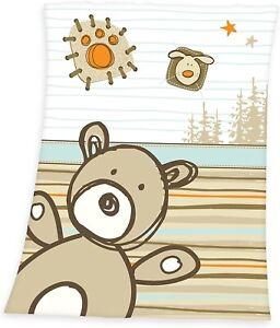 Decke Baby Bär Mikrofaserflausch 75x100 cm