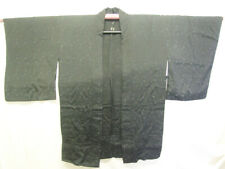 Vintage Lightweight Black Japanese Silk Haori, Very Good Condition - BH 032