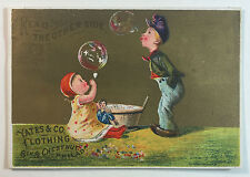 Victorian Trade Card, A.C. Yates & Co. Fine Clothing, 6th & Chestnut Sts. Phila.