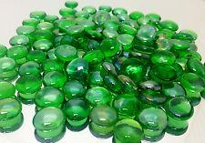 4 Pounds of Flat Glass Marbles Aquarium Supply - Iridiscent Green Flma01Gn