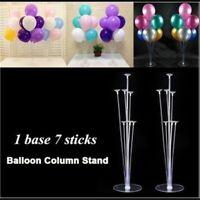 1Set Party Wedding Balloons Stand Column Display Holder Base Plastic Stick Decor